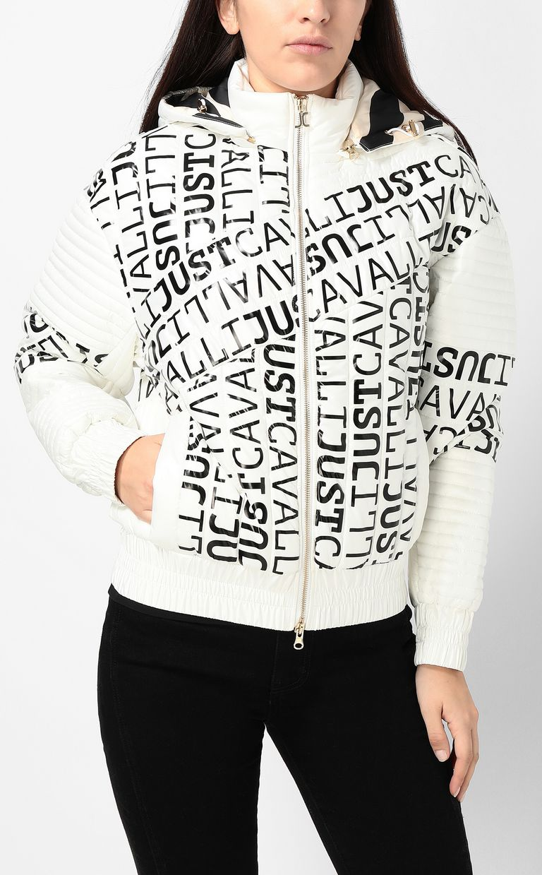 JUST CAVALLI Bomber jacket with logo Jacket Woman r