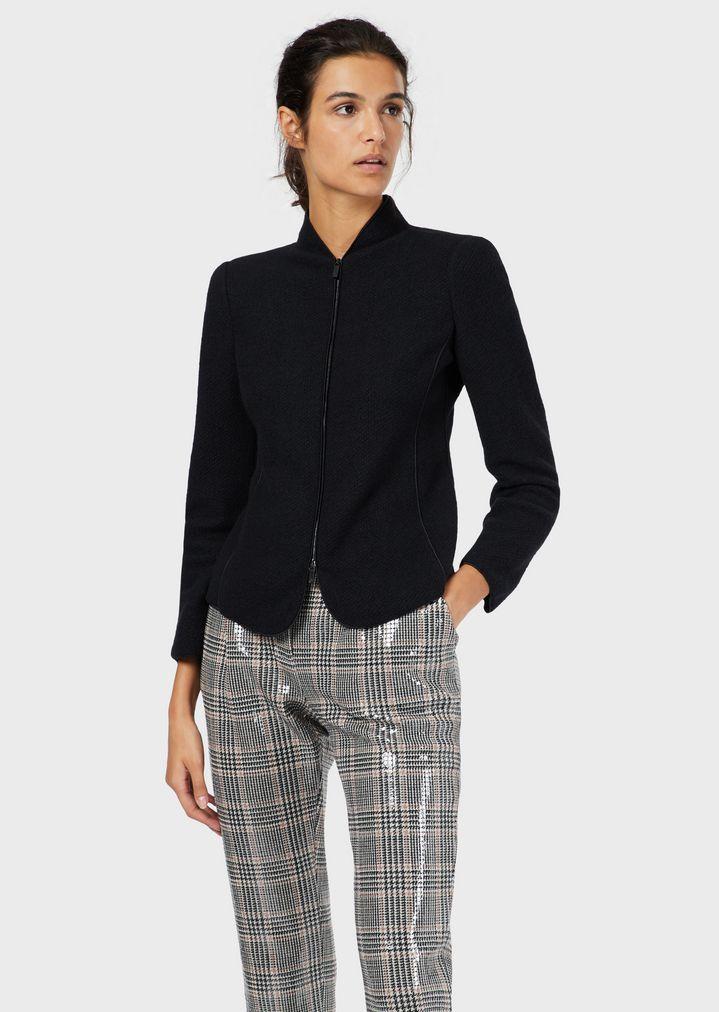 sale retailer 4069f 307ba Giacca in lana e cashmere con zip