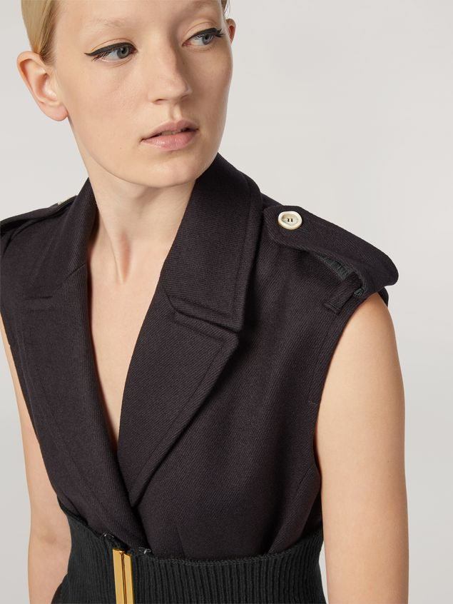 Marni Vest in brushed wool cover with pockets and slits Woman - 5