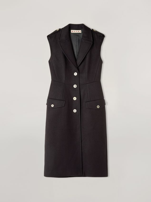 Marni Vest in brushed wool cover with pockets and slits Woman - 2