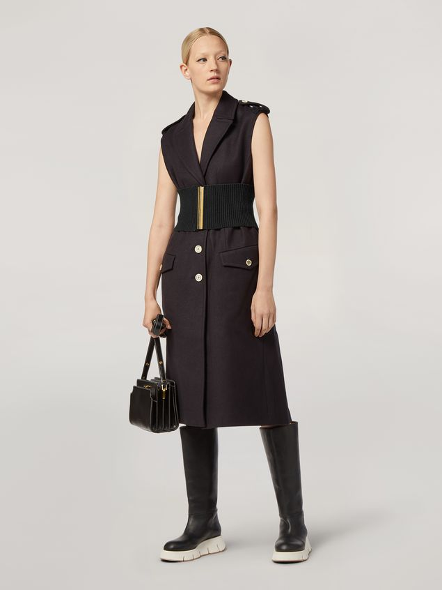 Marni Vest in brushed wool cover with pockets and slits Woman - 1