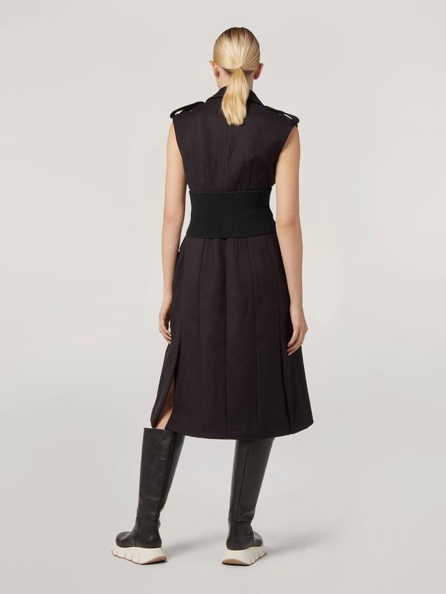 Marni Gilet in diagonale di lana garzata con tasche e spacchi Donna - 3