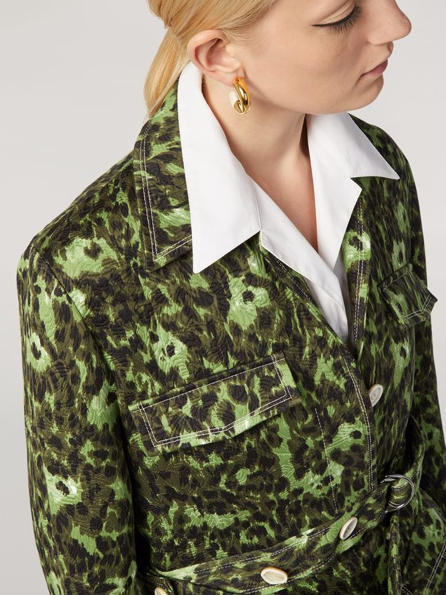 MARNI Sporty Jacket Woman Bomber jacket in cotton jacquard Wild print with removable bottom a
