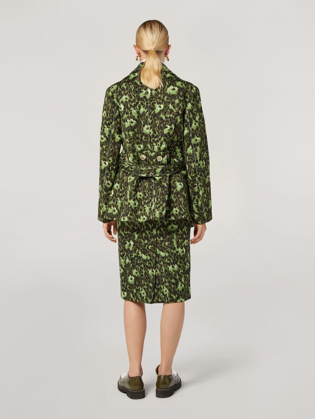 Marni Bomber jacket in cotton jacquard Wild print with removable bottom Woman - 3