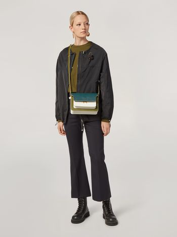 Marni Drawstring bomber jacket in techno cotton taffeta Woman f