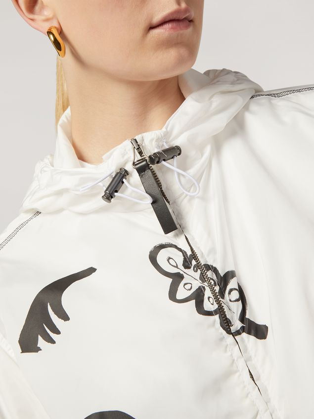 Marni Bomber jacket Faces print with drawstring Woman - 4
