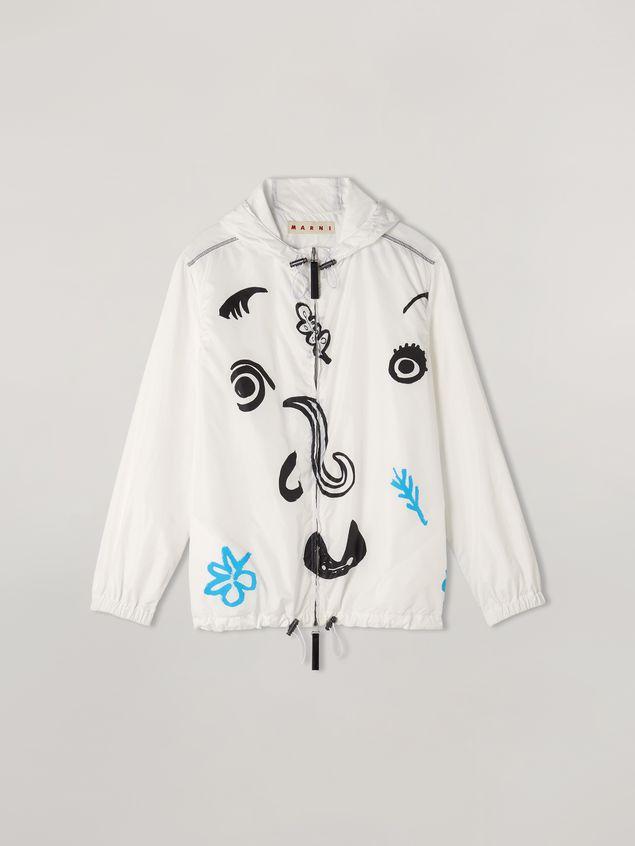 Marni Bomber jacket Faces print with drawstring Woman - 2