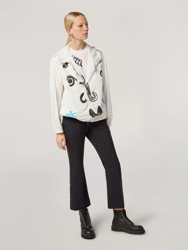 Marni Bomber jacket Faces print with drawstring Woman - 1