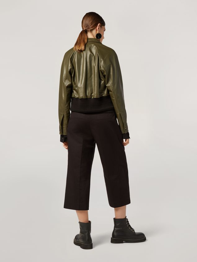Marni Bomber jacket in nappa stone lamb leather Woman - 3
