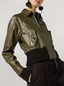 Marni Bomber jacket in nappa stone lamb leather Woman - 4