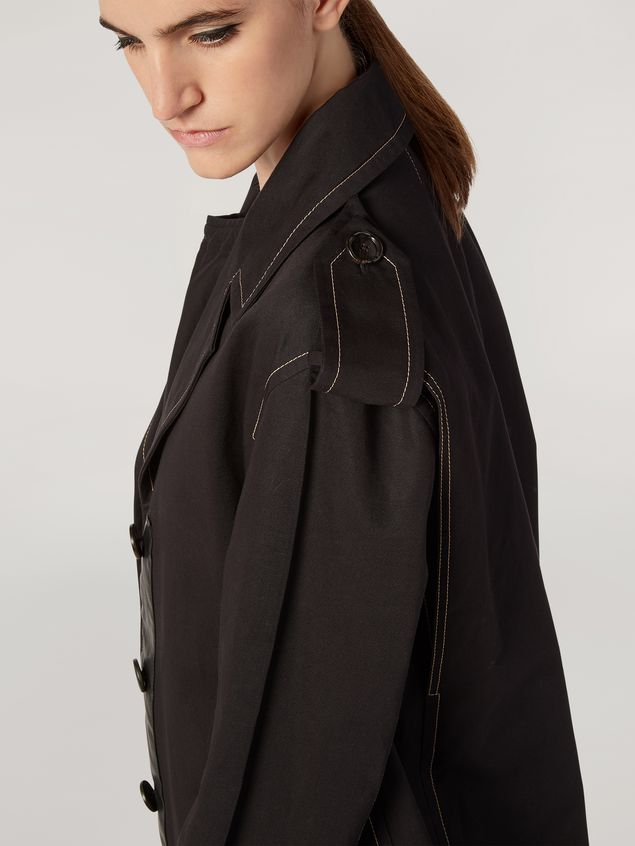 Marni Duster coat in cotton and linen drill with epaulette Woman - 5
