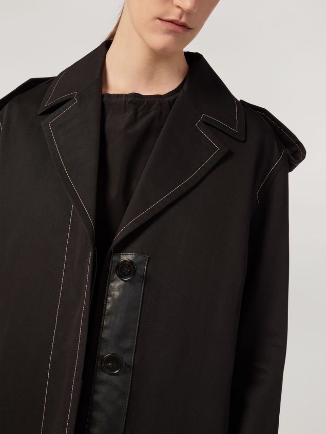 Marni Duster coat in cotton and linen drill with epaulette Woman - 4