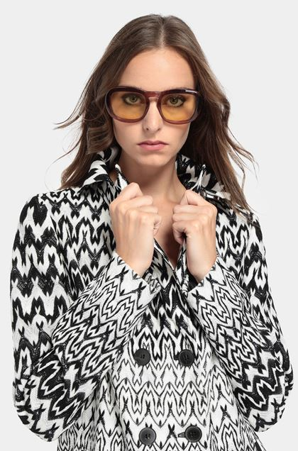 MISSONI Trench coat White Woman - Front