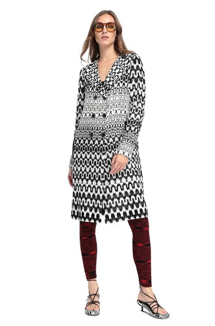 MISSONI Trench coat White Woman - Back