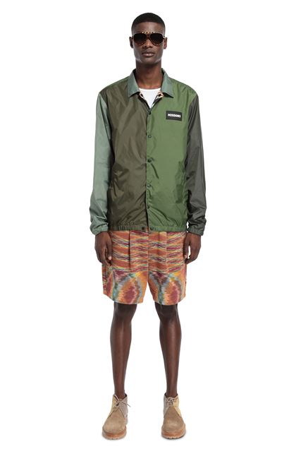 MISSONI Windbreaker Military green Man - Front