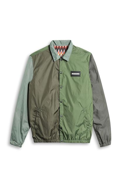 MISSONI Windbreaker Military green Man - Back