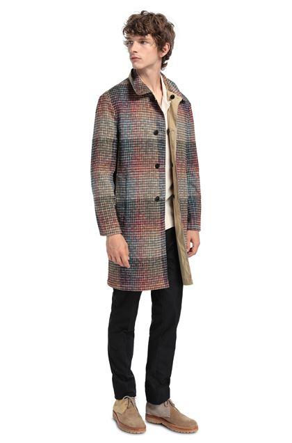 MISSONI Trench coat Beige Man - Front
