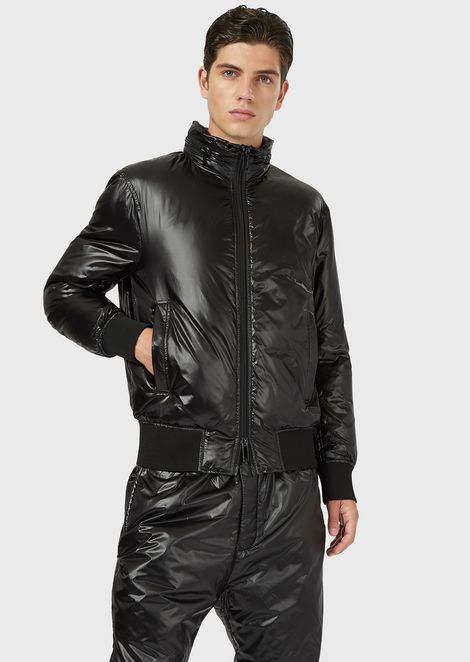 R-EA-MIX down jacket in shiny nylon