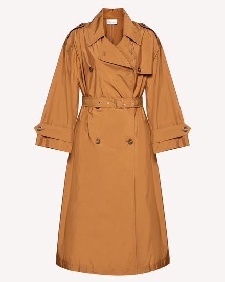 Techno taffeta trench coat