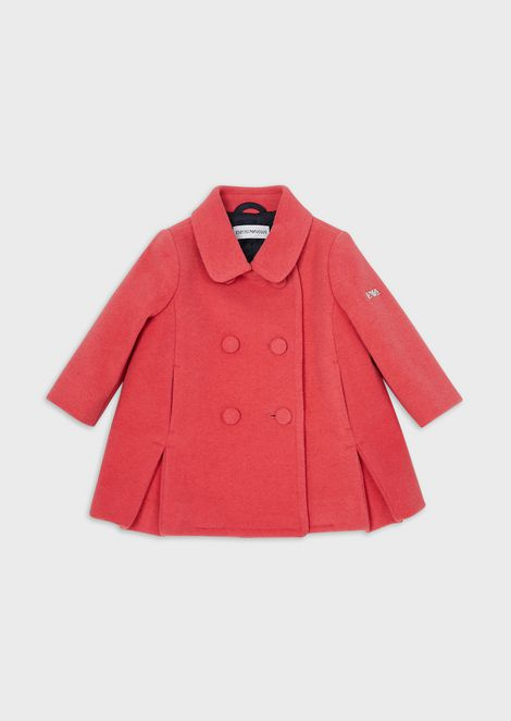 Wool-and-cashmere blend cloth coat