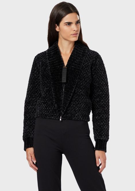 Blouson en chenille point gaufré