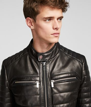 KARL LAGERFELD LEATHER RACER JACKET