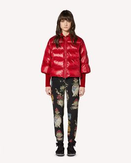 REDValentino Luminescent nylon down jacket