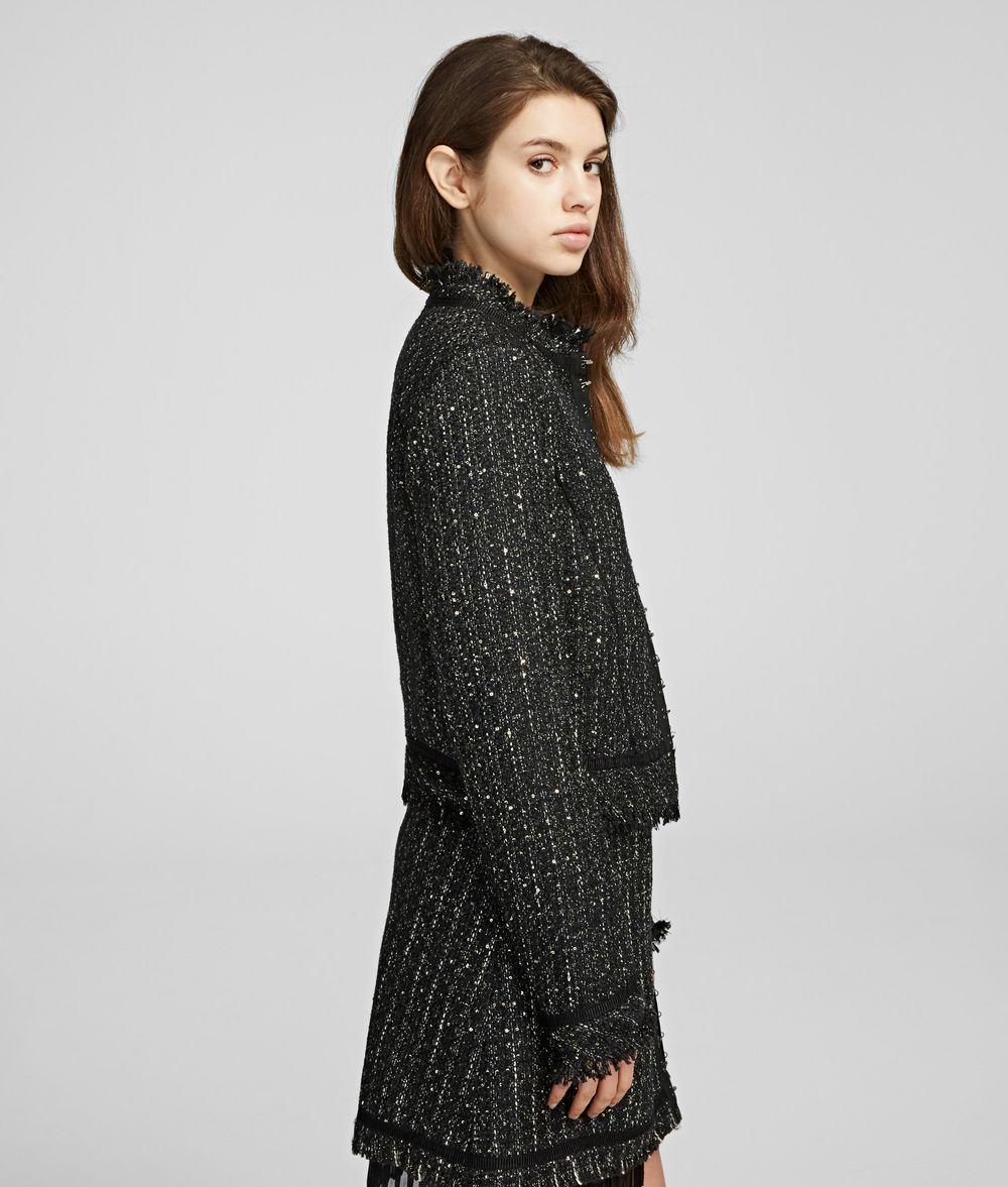 KARL LAGERFELD Sparkle Bouclé Jacket Jacket Woman d