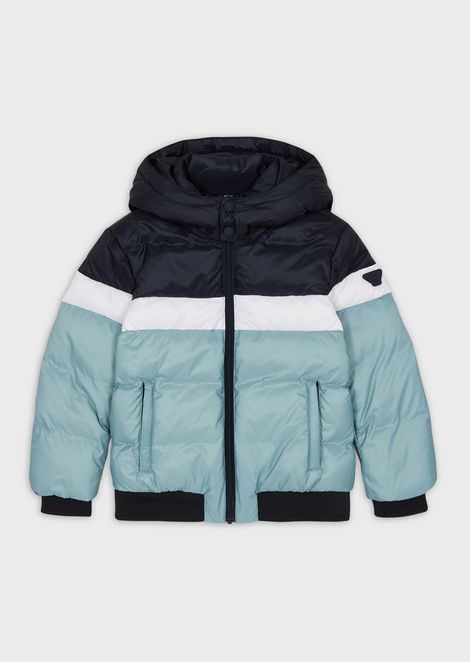 Quilted down jacket in ripstop nylon