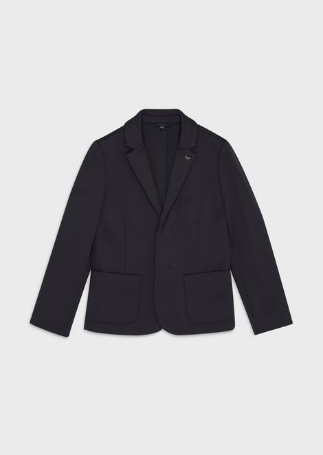 Twill single-breasted jacket