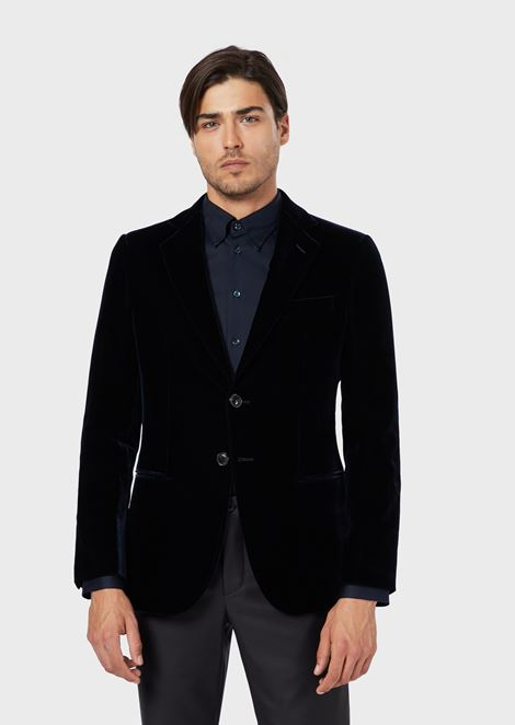 Regular fit Linea George jacket in velvet