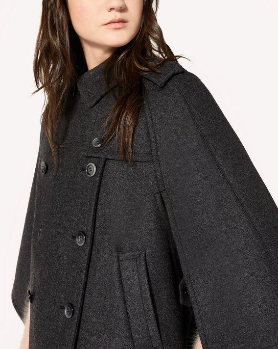 REDValentino Wool melange cape