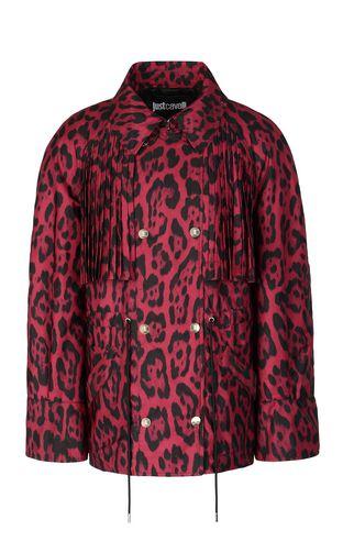 "JUST CAVALLI Raincoat Woman ""Jungle-Deco'"" print trench coat f"