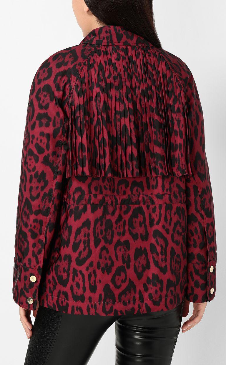 JUST CAVALLI Short leopard-print trench coat Jacket Woman a