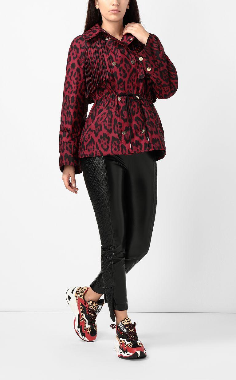 JUST CAVALLI Short leopard-print trench coat Jacket Woman d