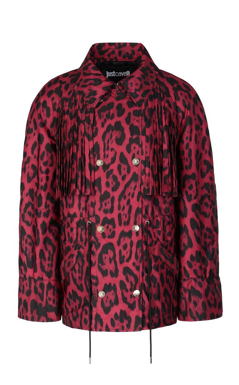 JUST CAVALLI Short leopard-print trench coat Jacket Woman f