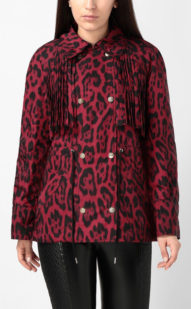 JUST CAVALLI Short leopard-print trench coat Jacket Woman r