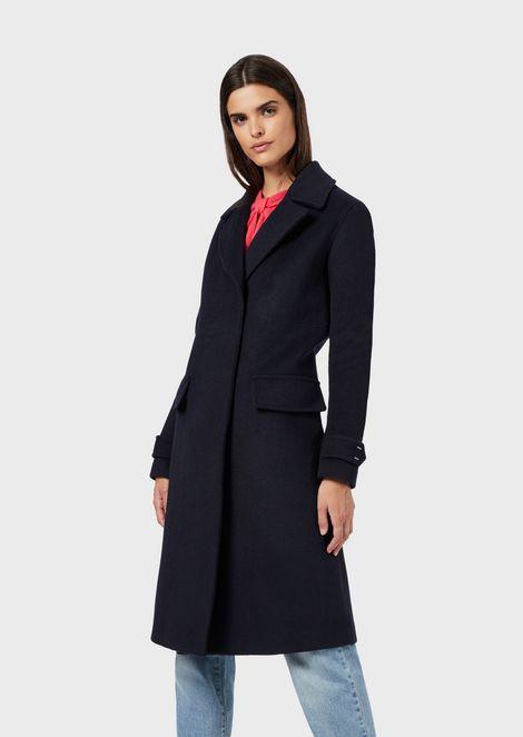 Mantel aus Schurwolle mit Innenweste