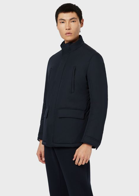 Padded blouson with front pockets