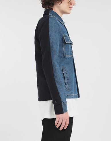 COATS and JACKETS Spliced jacket Blue