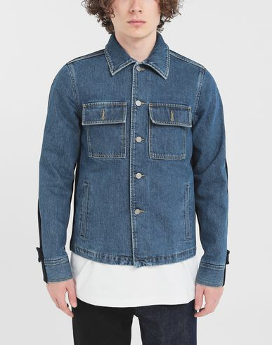 COATS & JACKETS Spliced jacket Blue