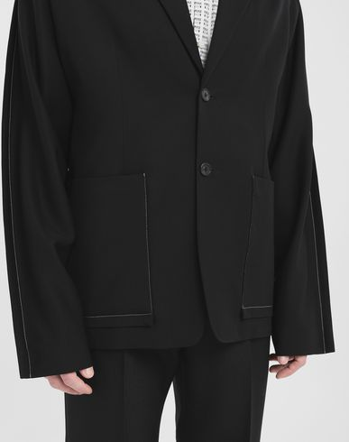 COATS and JACKETS Oversized wool blazer Black
