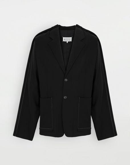 MAISON MARGIELA Blazer oversize in lana Giacca Uomo f