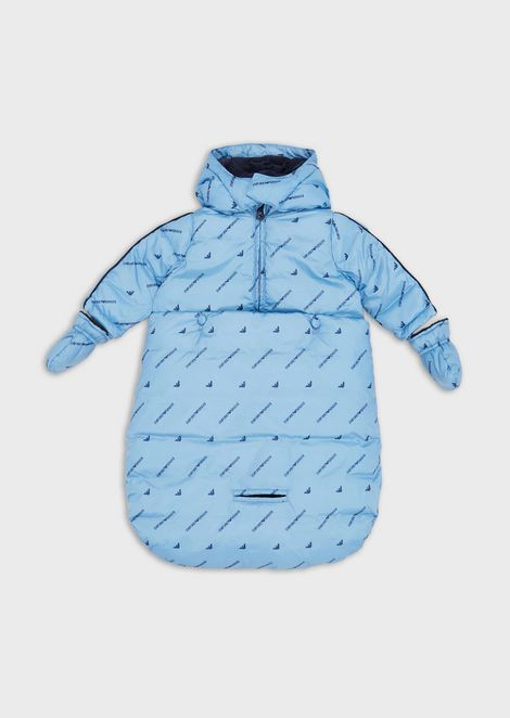Jacket with removable sleeping bag