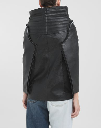 COATS & JACKETS Décortiqué faux leather jacket Black