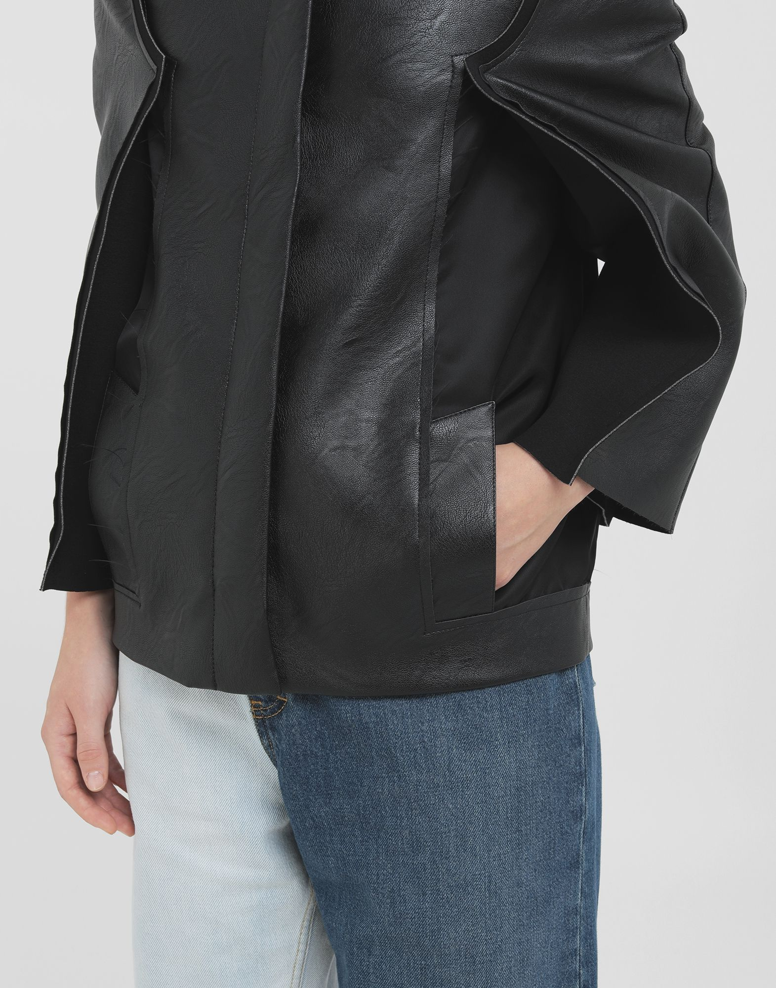 MAISON MARGIELA Décortiqué faux leather jacket Blazer Woman b