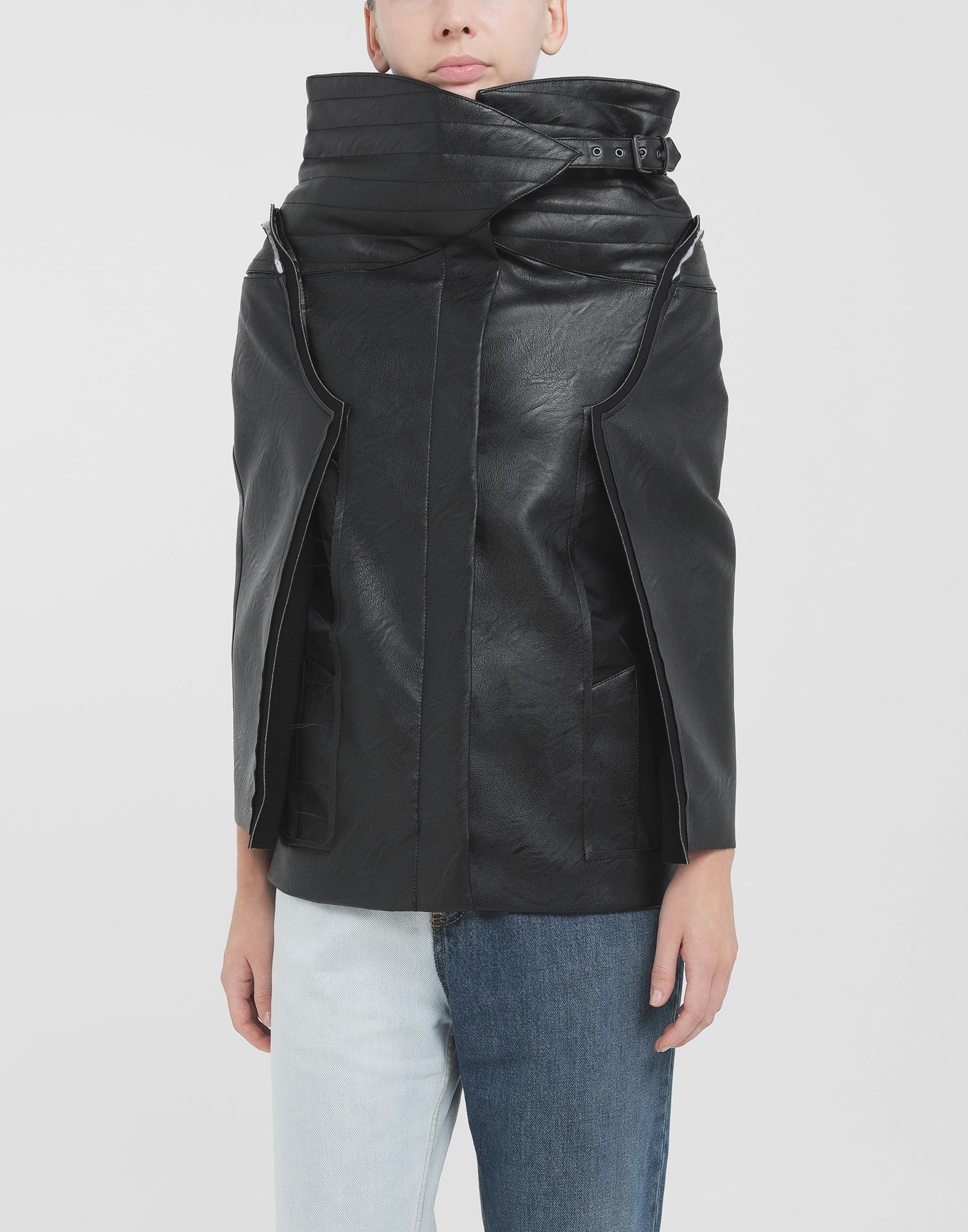 MAISON MARGIELA Décortiqué faux leather jacket Blazer Woman r