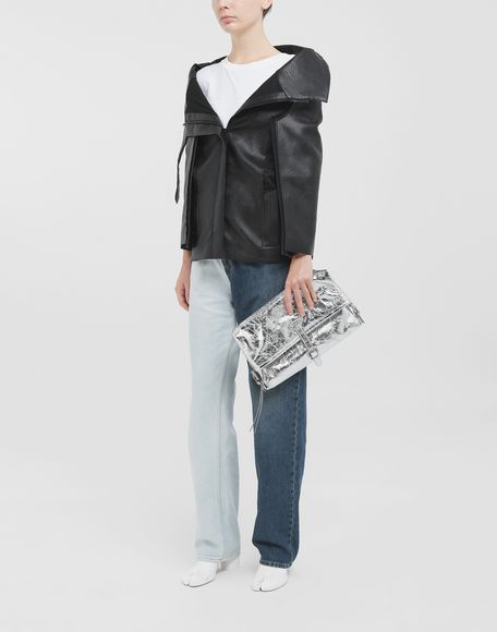 MAISON MARGIELA Décortiqué faux leather jacket Blazer Woman d