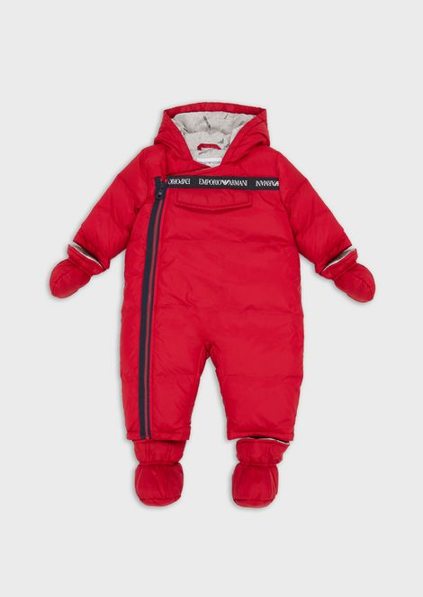 Down-padded jumpsuit