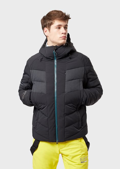 Padded technical ski jacket